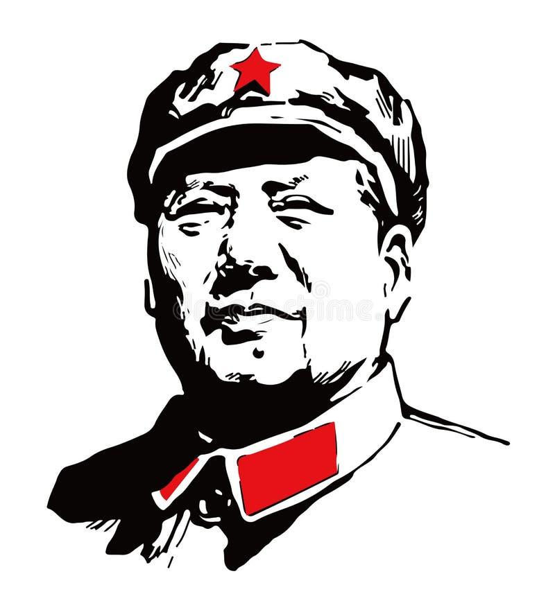 Kierowniczy portret Mao zedong ilustracji