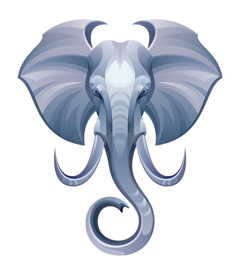Kierowniczy słoń royalty ilustracja