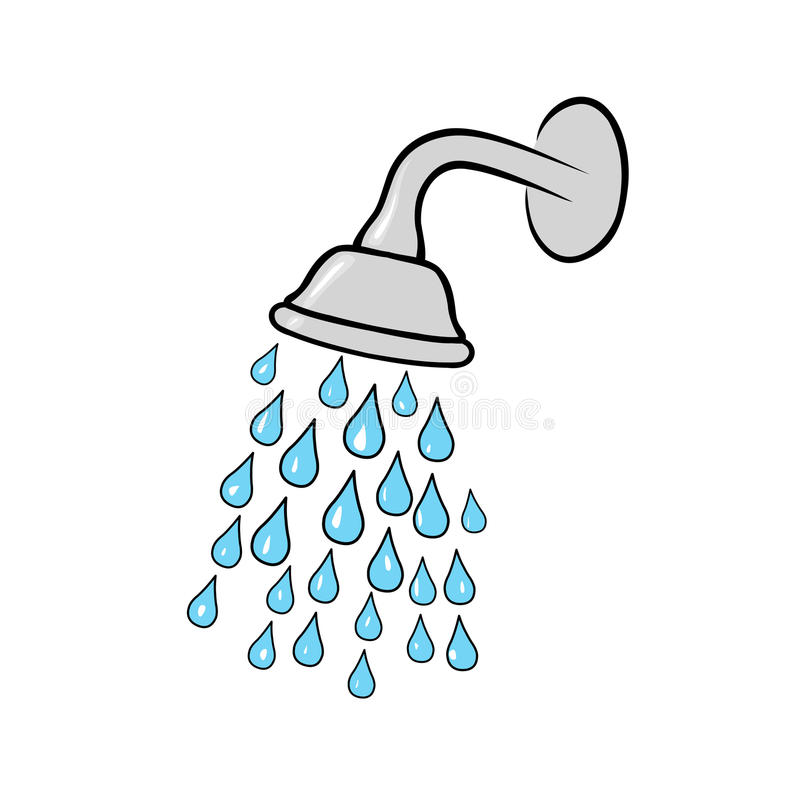 kierowniczy strzał zamknięta kierownicza prysznic royalty ilustracja