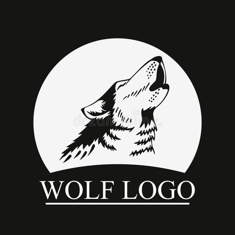 Kierowniczy Wyć wilk na księżyc royalty ilustracja