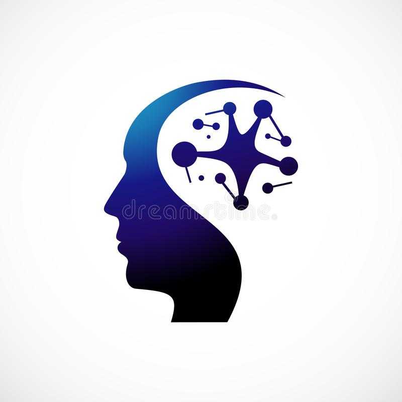 Kierowniczy zdrowie logo szablonu wektoru ilustrator ilustracja wektor