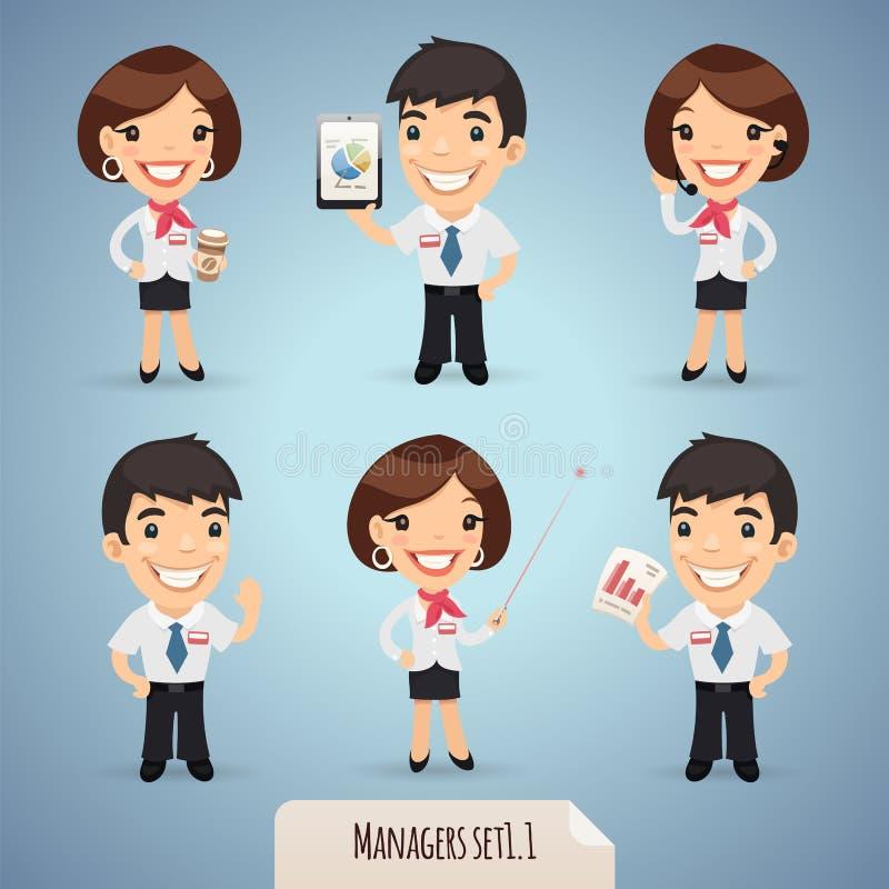 Kierowników postać z kreskówki Set1.1 ilustracji
