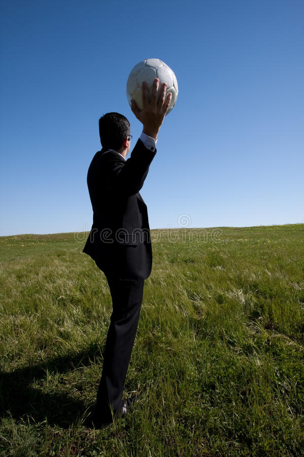 kierownik piłka nożna obrazy stock