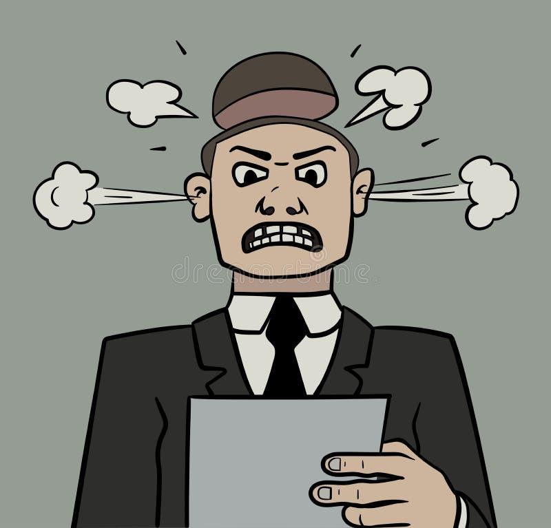 kierownik zła ilustracji