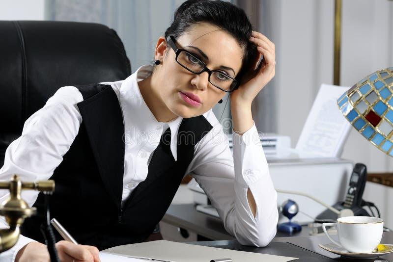 kierownika kobiety działanie obrazy stock