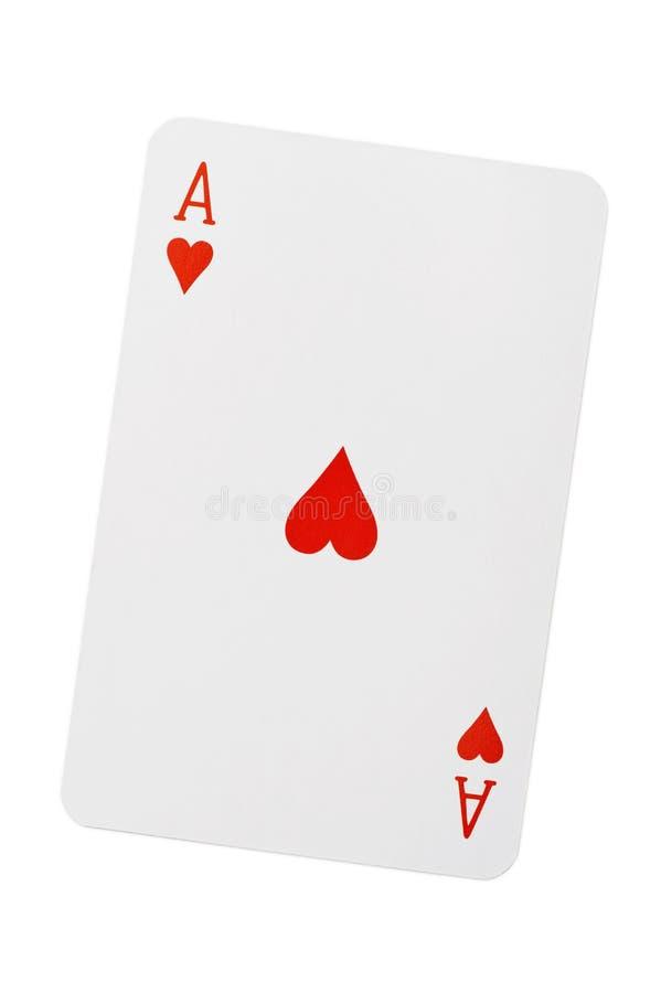 Kierowy as karta do gry obrazy royalty free