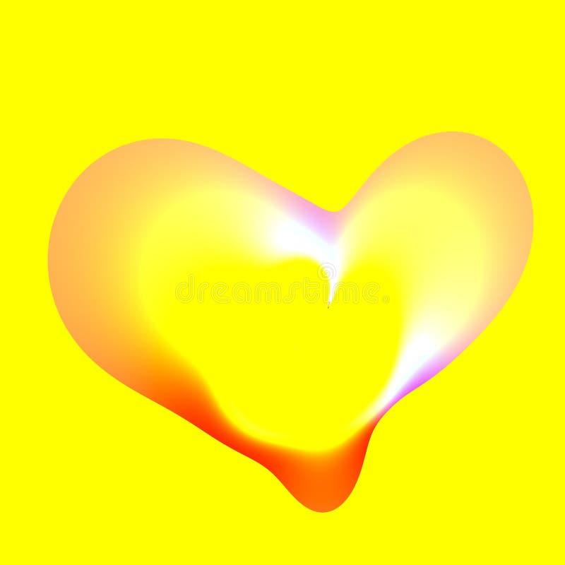 Kierowy bąbel Na Żółtym tle - Artsy royalty ilustracja