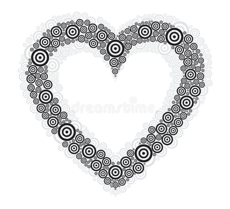 Kierowy czarny okrąg biały bg ilustracja wektor