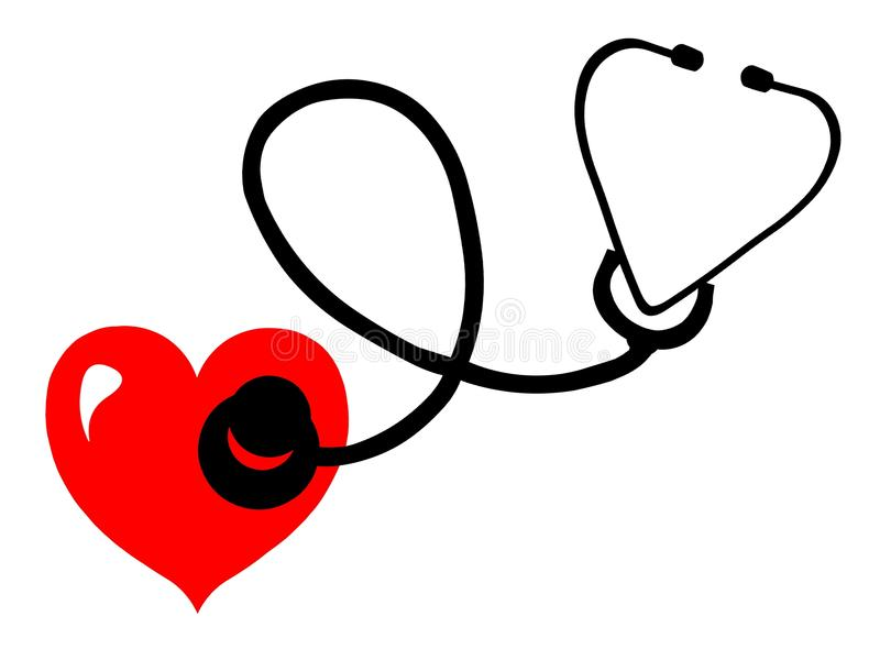 kierowy czerwony stetoskop royalty ilustracja