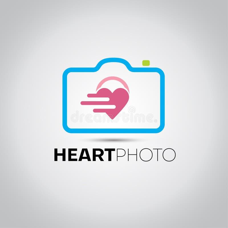 Kierowy fotografii kamery logo ilustracji