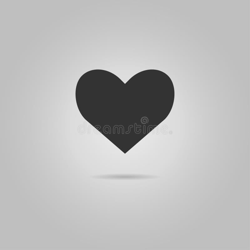 Kierowy ikona wektor czerwone róże miłości tła symbolu white Walentynka, s dnia znak ', emblemat odizolowywający na popielatym tl ilustracji