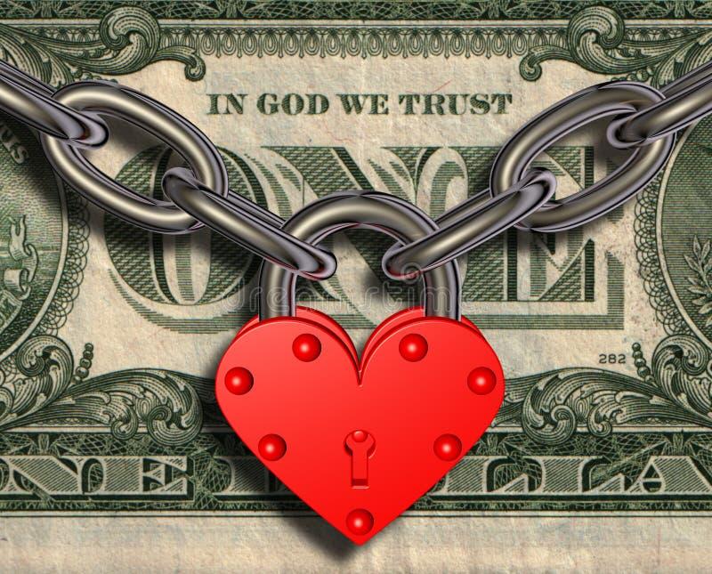 kierowy kędziorka miłości pieniądze ilustracja wektor