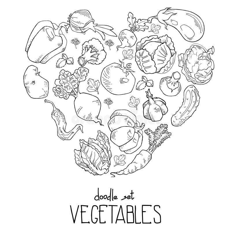 Kierowy kształt świezi warzywa jest może projektant wektor evgeniy grafika niezależny kotelevskiy przedmiota oryginałów wektor royalty ilustracja