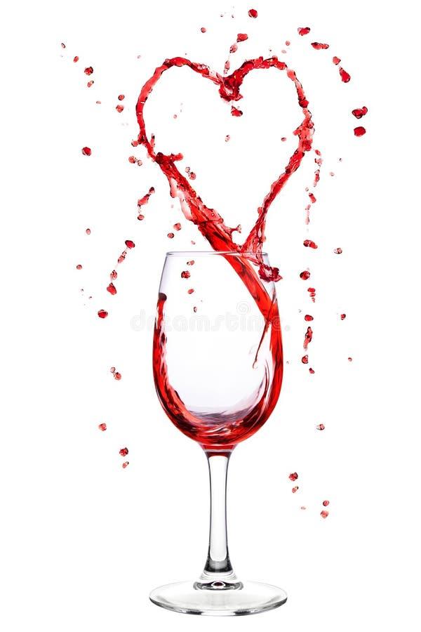 kierowy kształta chełbotania wina wineglass zdjęcia royalty free