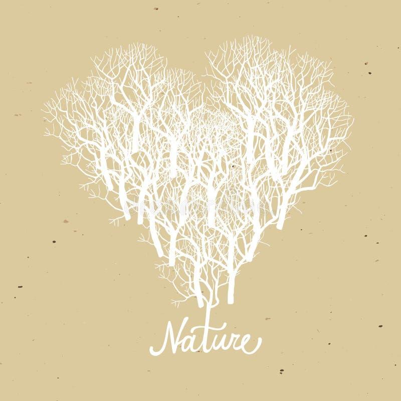 Kierowy kształta drzewa logo ilustracja wektor