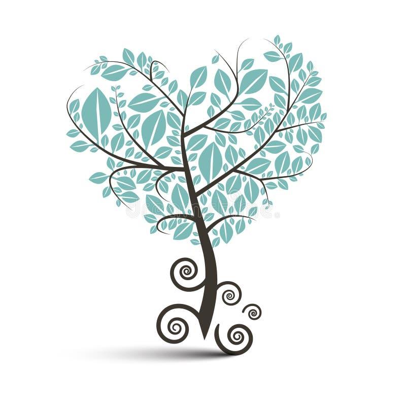 Kierowy Kształtny drzewo z Fryzującymi korzeniami ilustracja wektor
