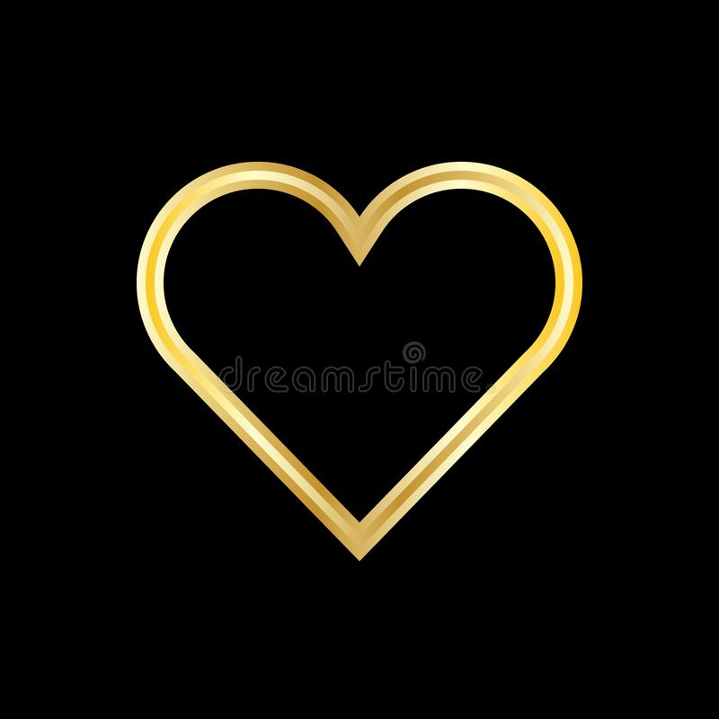 Kierowy logo walentynki miłości symbol zdjęcie royalty free