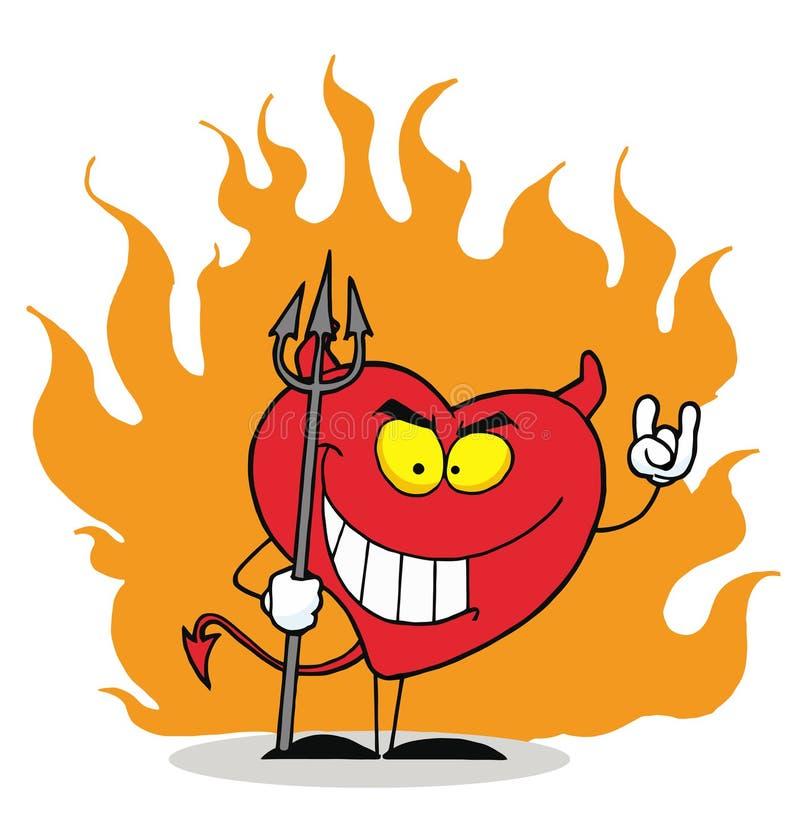 kierowy niegrzeczny czerwony grzeszny royalty ilustracja