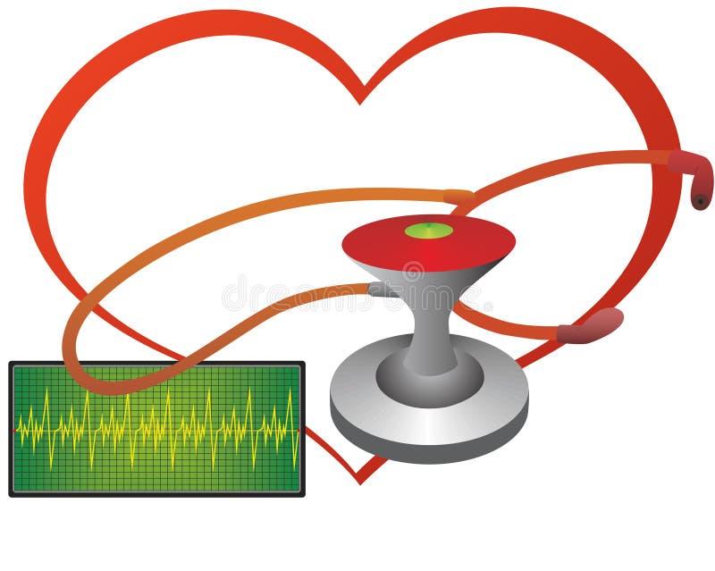 kierowy stetoskop ilustracji