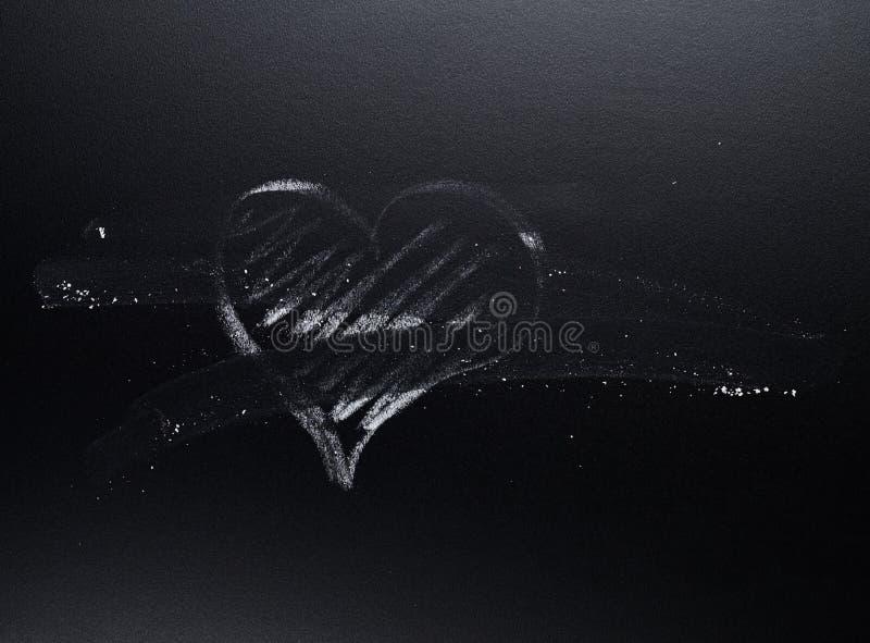 Kierowy symbol wymazujący od blackboard fotografia royalty free