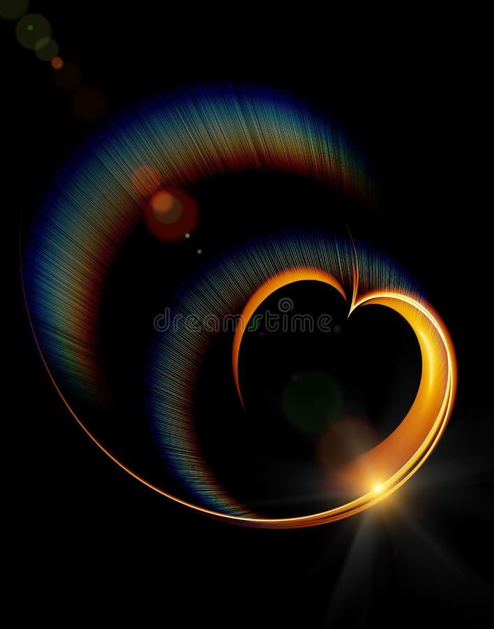 kierowy tęczy promieni target2831_1_ ilustracji