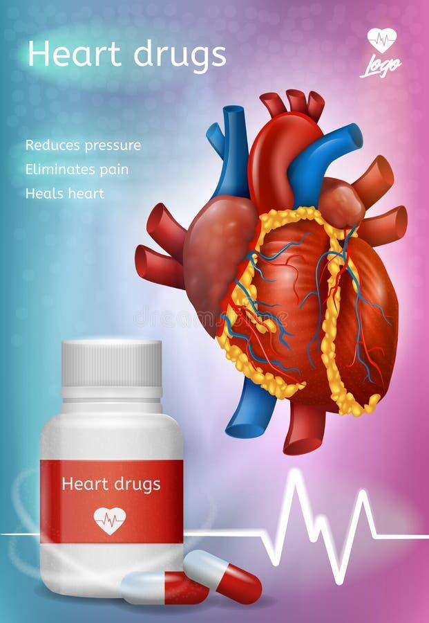 Kierowych leków Realistyczny Wektorowy Promocyjny plakat ilustracja wektor
