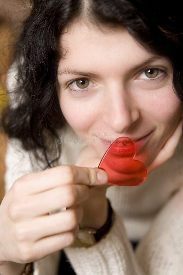 kierowych warg niedalecy plastikowi uśmiechnięci kobiety potomstwa zdjęcie stock