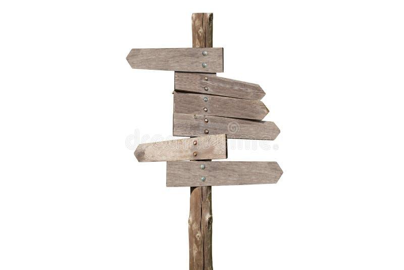 Kierunek drewniane strzała w białym tle zdjęcie stock