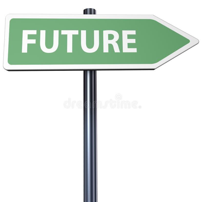 Kierunek przyszłość royalty ilustracja