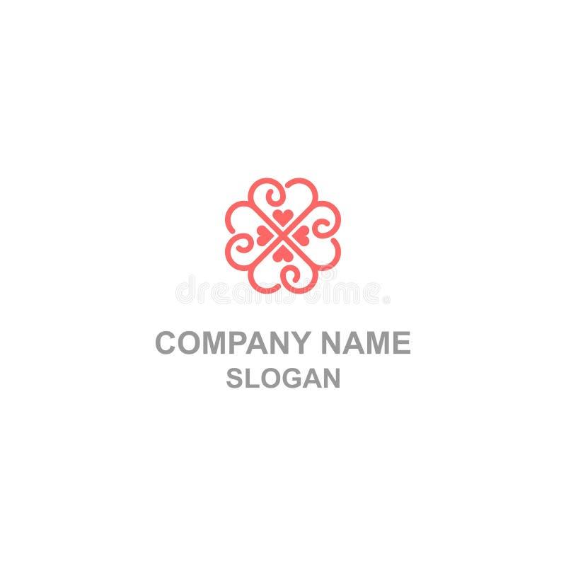 4 kierunków miłości logo royalty ilustracja