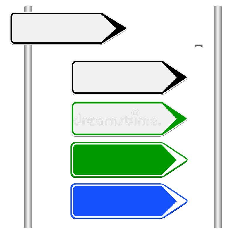 Kierunków znaki różni kolory na białym tle ilustracja wektor