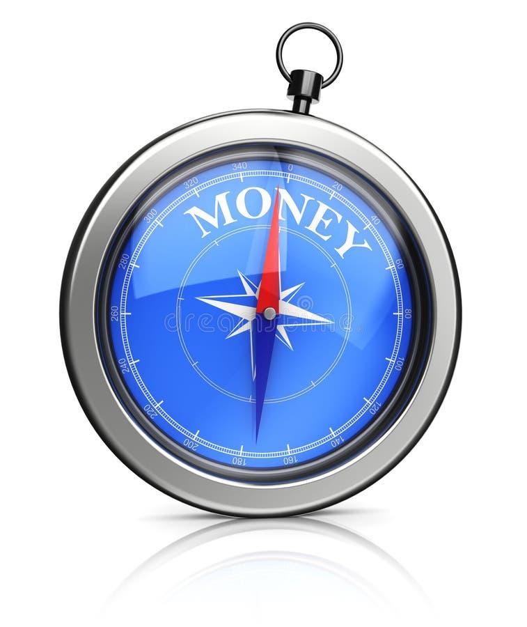 Kierunki na pieniądze ilustracja wektor
