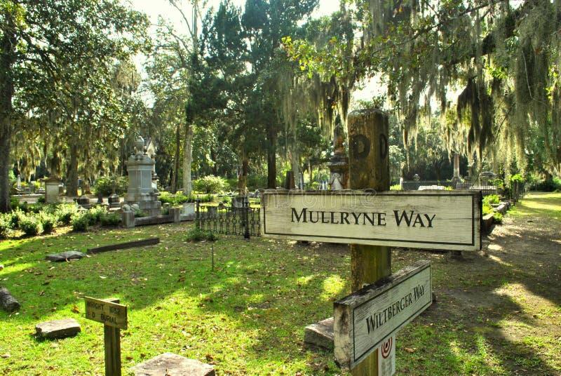 Kierunki przy Bonaventure cmentarzem obrazy stock