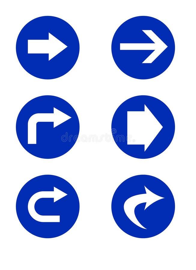 kierunkowi drogowi znaki ilustracja wektor