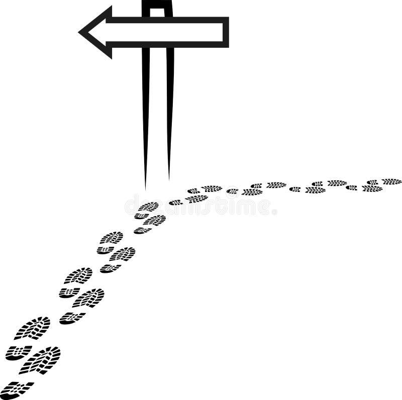 kierunkowskaz ilustracja wektor