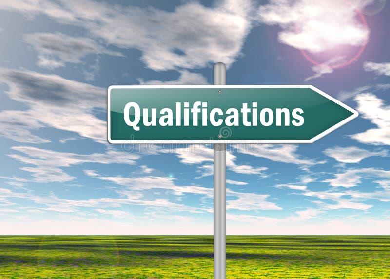 Kierunkowskaz kwalifikacje ilustracji
