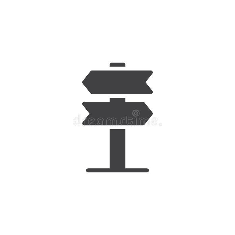 Kierunkowskaz, pointer kasetonuje wektorową ikonę ilustracji