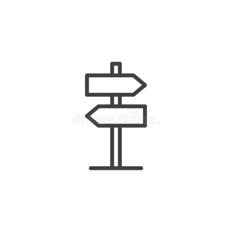 Kierunkowskaz, pointer kreskowa ikona ilustracji