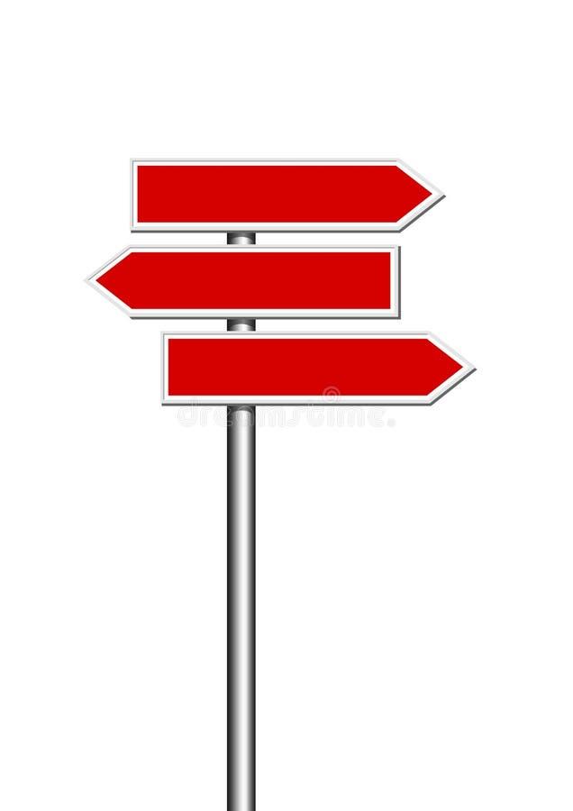 Kierunku drogi znaki ilustracja wektor