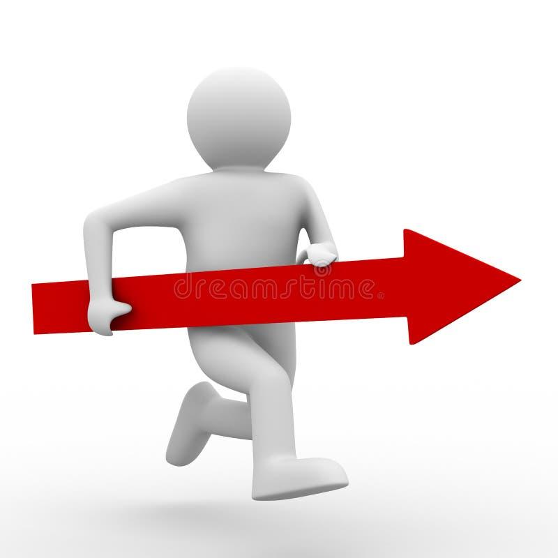 kierunku ruchu sukces ilustracji