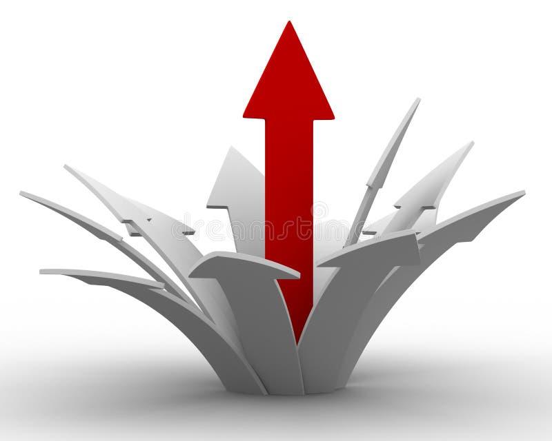 kierunku ruchu sukces ilustracja wektor