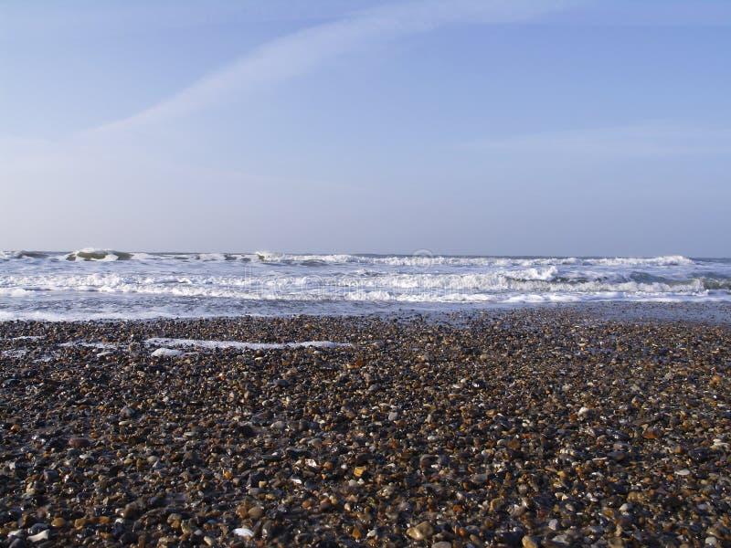 Kies Auf Strand Lizenzfreies Stockbild