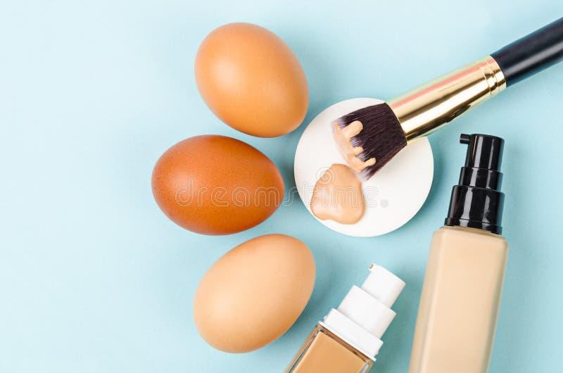 Kies de stichtingsmake-up van de toonkleur voor huidconcept stock foto's