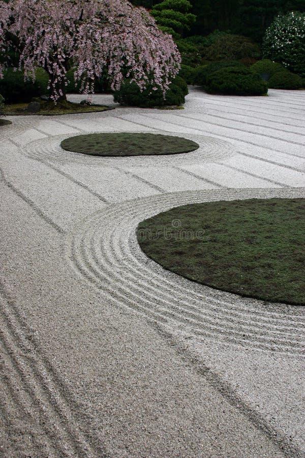 Kies-Garten 6 stockfoto