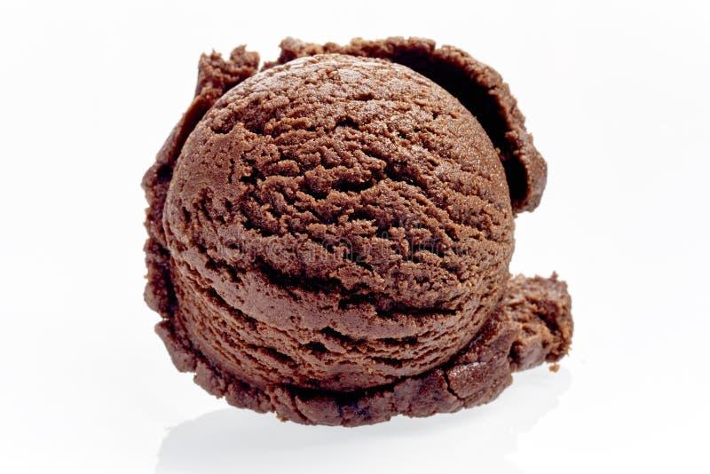 Kies Lepel van Rich Chocolate Ice Cream uit stock foto's