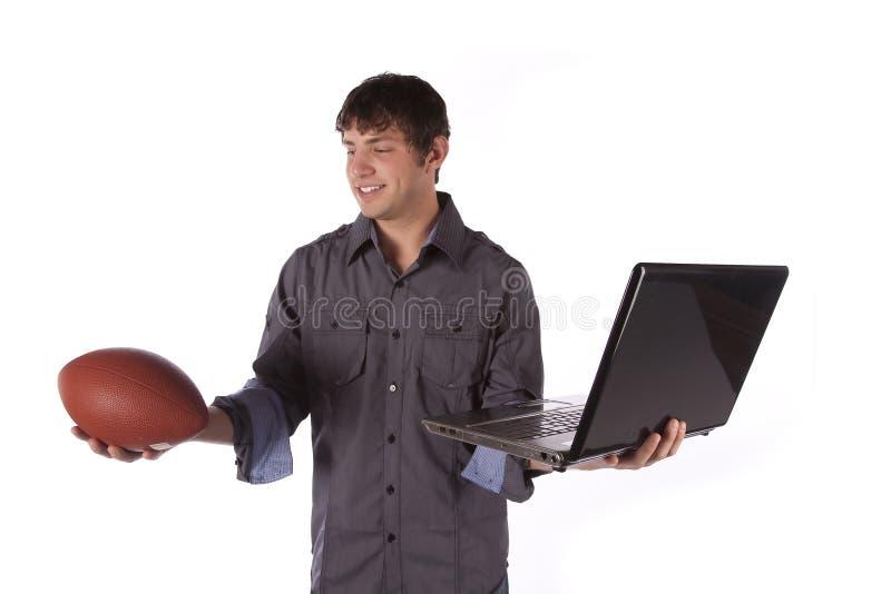Kies sport over het werk stock afbeelding