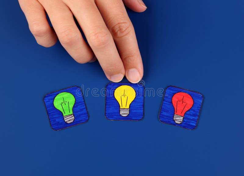 Kies u idee stock afbeelding