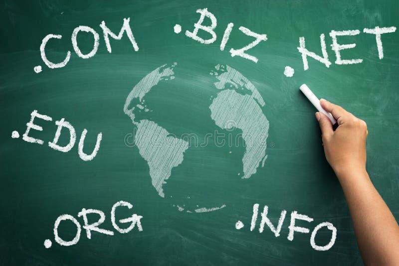 Kies u nieuw domein stock fotografie