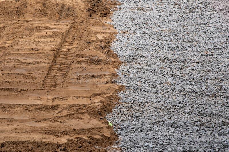 Kies- und Sandbeschaffenheit für Hintergrund lizenzfreie stockfotografie