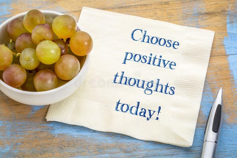 Kies vandaag positieve gedachten! stock fotografie